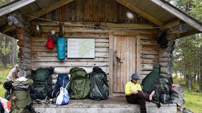 Uno de los refugios libres del camino de Piilola en el Área Natural de Vätsäri