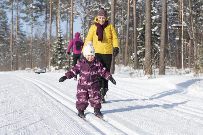 El esquí de fondo es muy popular en Finlandia