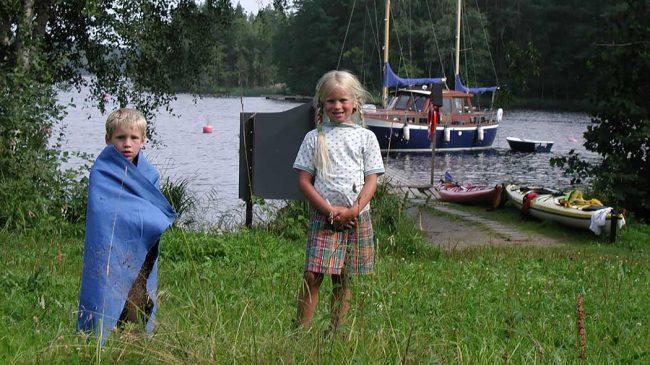 Turistas en el Parque Nacional de Linnansaari