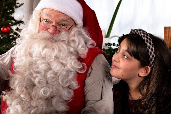 Papá Noel siempre esta a punto para recibir la visita de los niños