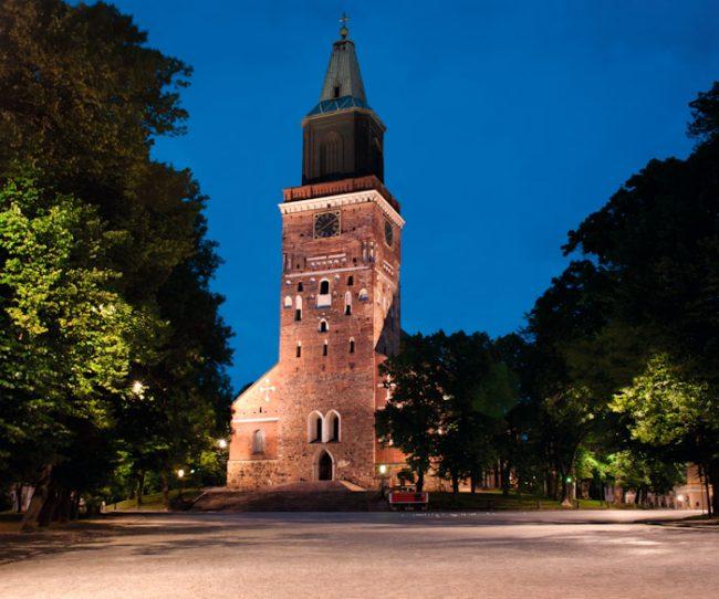 La catedral de la ciudad de Turku