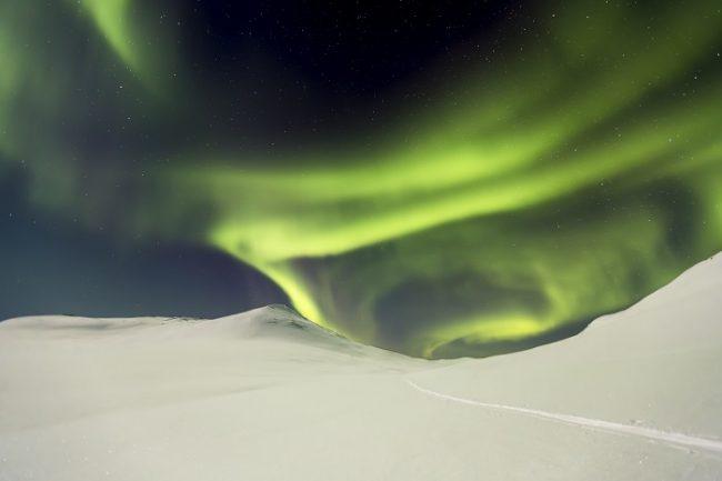 Aurora Boreal en Laponia-Enontekiö