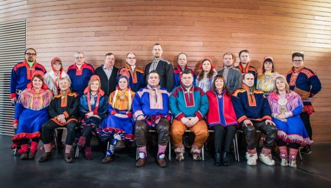 Los actuales miembros del Parlamento Sami en Finlandia